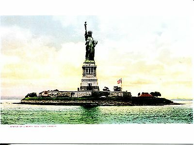 REPRODUCTION POST CARD OF AN OLD STATUE OF LIBERTY POST CARD FROM EARLY 1900'S