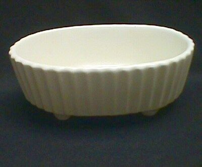 Hull Pottery White Oval Footed Planter F39