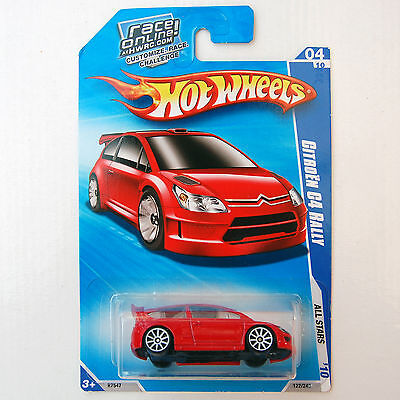2010 Hot Wheels #122 Citroen C4 Rally - New On Card - Red