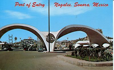 POST CARD OF POINT OF ENTRY NAGALES SONORA MEXICO