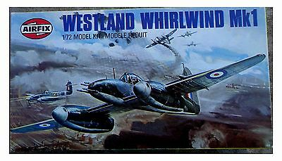 RARE Airfix WWII British Westland WHIRLWIND Mk1 Fighter Aircraft in 1/72 scale
