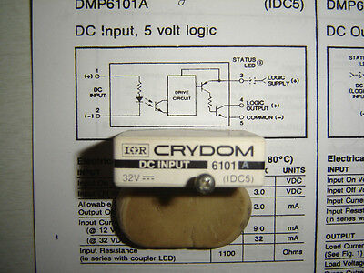 New Crydom DMP6101A Optically Isolated relay module 24vdc-in 5vdc logic-out