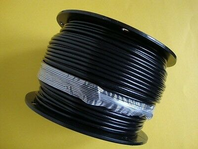 "BLACK Vinyl Coated Cable Wire Rope, 3/16"" - 1/4"", 7x19, 500 ft reel"