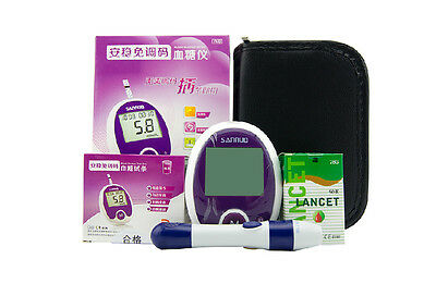 San Nuo Without Tune Code Glucometer Monitoring Blood Sugar With 50 Test Strips