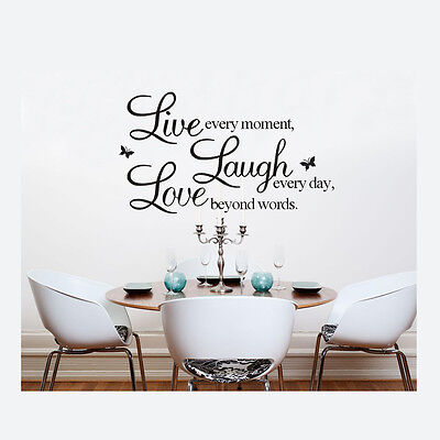 LIVE LAUGH LOVE Wall Stickers Art Vinyl Quote Decal Mural Home Decor Removable