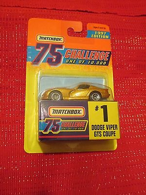 MATCHBOX 1997 Edition 75 CHALLENGE One Of 10,000 #1 Dodge Viper GTS Coupe Gold
