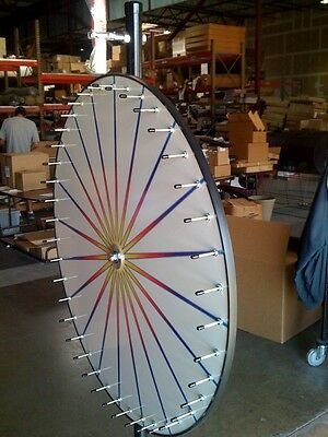 New Carnival Game Spin to Win Prize Wheel / 20 White Dry Erase Pies