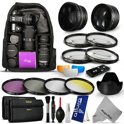 Lens & Filter Kit + Backpack for Canon Rebel EOS T5i T4i T3i T3 T2i SL1 XTi XSi