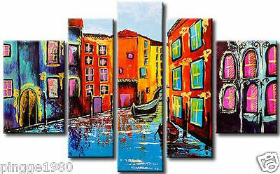 Beautiful Modern Abstract Huge Wall Decor Oil Painting 5pc (no framed) P095