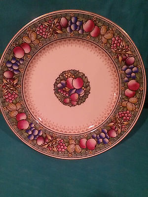 """VINTAGE MINTON ROTIQUE PATTERN COLLECTOR PLATE """"FRUIT AND NUTS"""" # E4664"""