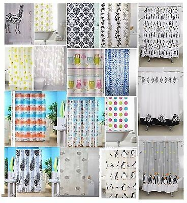 Shower Curtains Curtain Animal Design Standard Size 180 X 180Cm With Rings Hooks