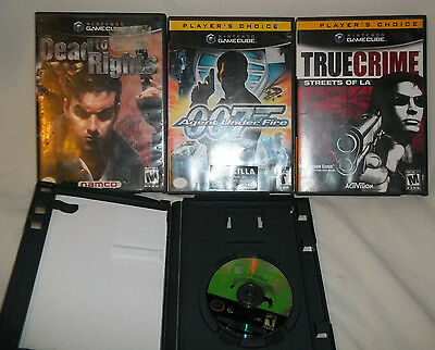 Nintendo Gamecube 4 Game Lot - Dead To Rights 007 True Crime Battalion Wars