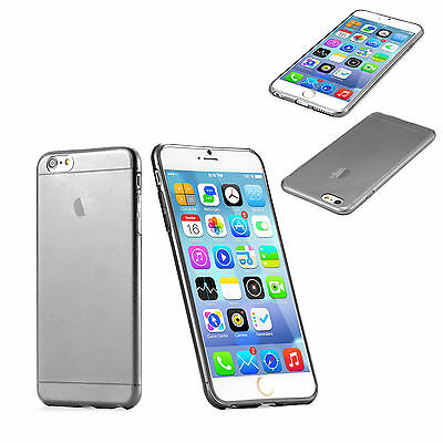 Phone Case Cover Transparent Gray Soft Silicon TPU Skin Case For iPhone 6 Plus