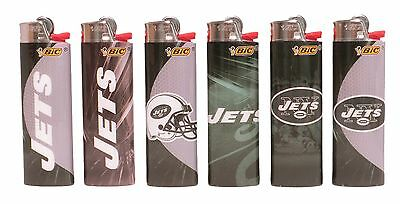 BIC NFL New York Jets Lighters Set of 6, All Brand New and Officially Licensed