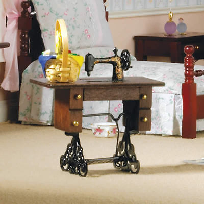 Treadle Sewing Machine, Dolls House Miniature Sewing Room 1/12 Scale