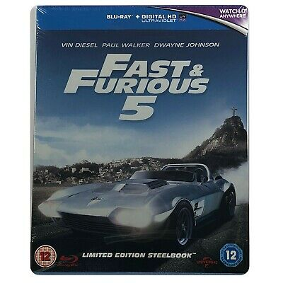 Fast And Furious 5 Steelbook - UK Exclusive Limited Edition Blu-Ray