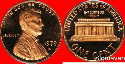 1979 S Lincoln Cent Type 1 Deep Cameo Gem Proof No Reserve