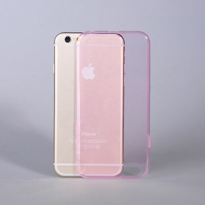 Pink Soft Silicon TPU Skin Case Transparent Phone Case Cover For iPhone 6 Plus