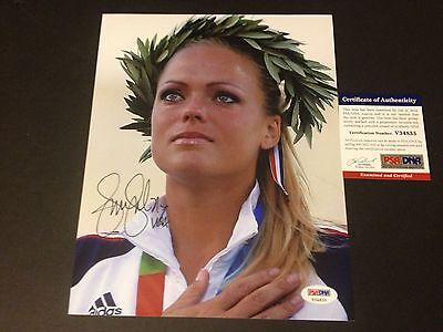 Jennie Finch Olympic Gold Medal Signed Auto 8x10 PHOTO PSA/DNA COA