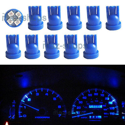 10Pcs Blue Instrument Panel Cluster 194 T10 Led Light Bulbs Dashboard for Toyota