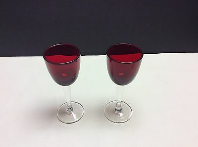 Royal Ruby Wine Glasses - 2