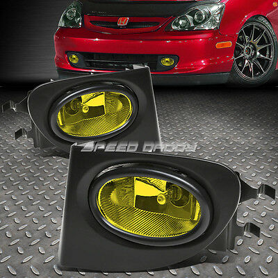 AMBER LENS DRIVING BUMPER OEM FOG LIGHT/LAMP+SWITCH FOR 02-05 CIVIC SI EP3 3DR