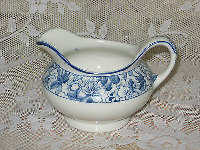 WOODS WARE ENOCH WOODS WOOD AND SONS COBALT BLUE CREAMER