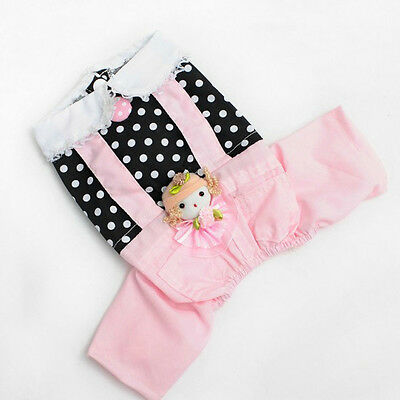 NEW Puppy Pet Dog Cotton Jumpsuit Overall Small Dog Clothes Clothing Apparel L