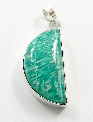 Silver 925 Natural Amazonite Fancy Gemstone Elegant Pendant, Fashion Jewellery