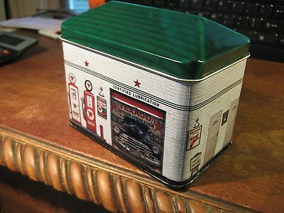 TEXACO FIRE CHIEF METAL TIN CONTAINER GAS PETROLEUM SERVICE STATION  SHELL GULF
