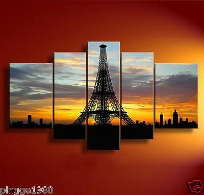 Handmade Abstract Cityscape Oil Painting 5PC Modern Canvas (no framed) P022