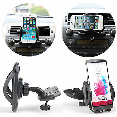 Car CD Dash Slot Mount Holder Dock For iPod iPhone Android Phone GPS S5 LG G3