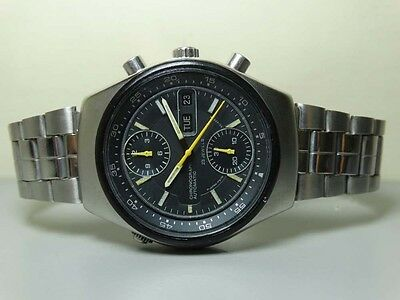 VINTAGE CITIZEN CHRONOGRAPH AUTOMATIC DAY DATE MENS WATCH 30200709 OLD USED H177