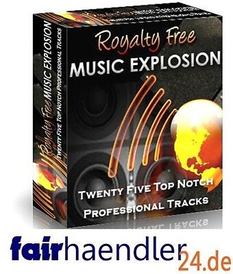 ✰ROYALTY FREE MUSIC EXPLOSIONS lizenzfreie legale MUSIKCLIPS 25 SONGS MASTER MRR