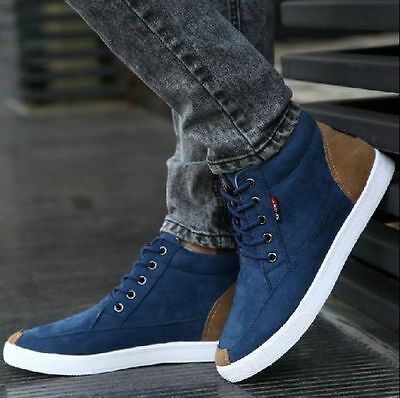 New fashion Men's leisure England style canvas sports Breathable ankle bootUS8.5