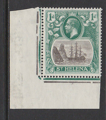 ST HELENA 1922-37 1d WITH CLEFT ROCK SG 98c MNH.