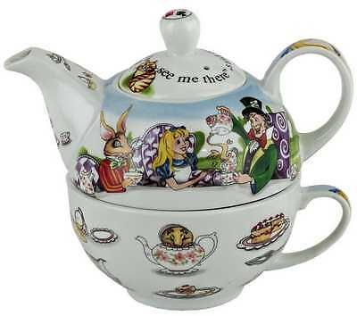 New boxed Paul Cardew Alice in Wonderland tea for one teapot, pot & cup set