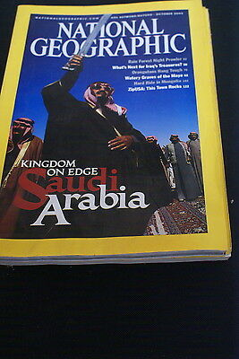 National Geographic October 2003 kingdom on the edge of Saudi Arabia