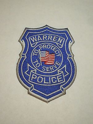 Vintage Warren Michigan Police Department Embroidered Iron On Patch
