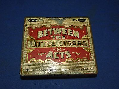 Vintage Little Cigars Between the Acts Tin Case- P Lorillard Co.