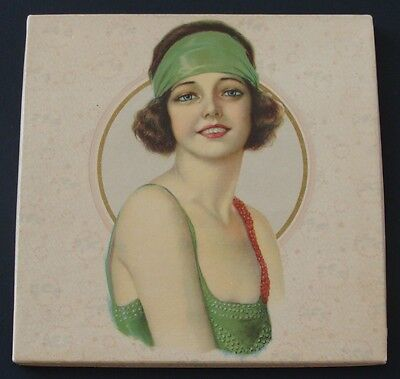 1920's Flapper Decorated Vintage Original Handkerchief Box~Art Deco~Great Gatsby
