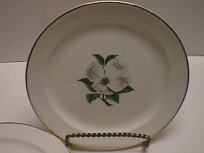Set Of Four Taylor Smith & Taylor Dogwood Bread & Butter Plates Side Gold Trim