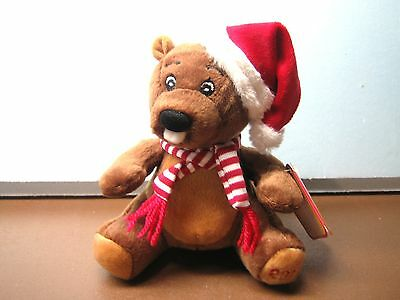 Sears Collectible Christmas 2011 Charity Beaver named BOSLEY with tag - NEW