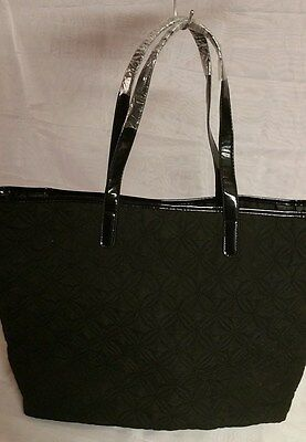 Avon Large Black Quilted Tote bag