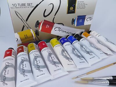 10 Tube Boxed Set Chromacryl Student Acrylic Paint CC80300