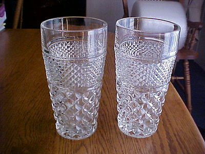 2 Wexford Tall Ice Iced Tea Glasses Excellent Plus 6 1/4 inch 16oz.