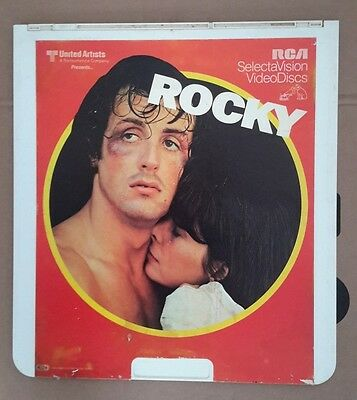 Lot of 4 Stallone RCA Selectavision Video Disc CED VideoDisc Rocky 1-3 Rambo 1B