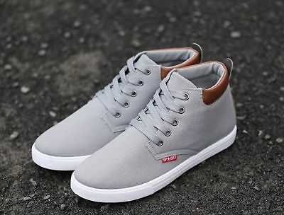 Fashion Men High Top comfortable Sneakers Korean Ankle Boots Casual Shoes US8.5