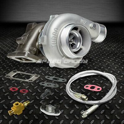 T04E T3/t4 A/r.63 57 Trim Stage Iii Boost Anti-Surge Turbo Charger+Oil Feed Line