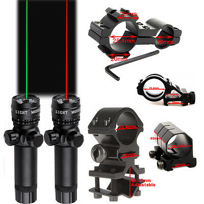 Types Green/Red Dot Laser Sight/Mounts With Remote Switch for Rifle Gun Hunting
